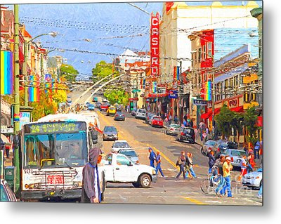 Late Morning Early Autumn In The Castro In San Francisco Metal Print by Wingsdomain Art and Photography