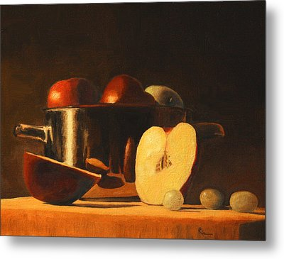 Late Night Snack Metal Print