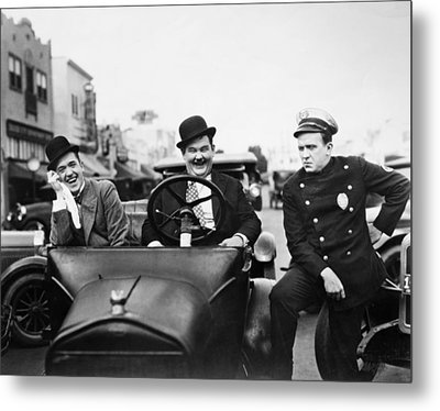 Laurel And Hardy, 1928 Metal Print by Granger