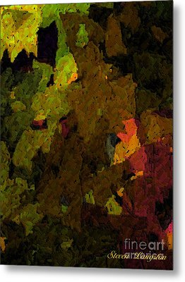 Metal Print featuring the painting Leaves by Steven Lebron Langston