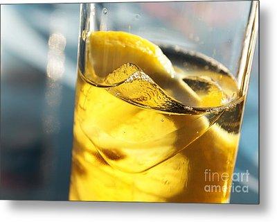 Lemon Drink Metal Print by Carlos Caetano