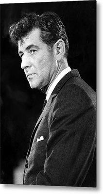 Leonard Bernstein 1918-1990 American Metal Print by Everett