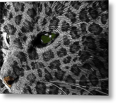 Leopard Within Metal Print