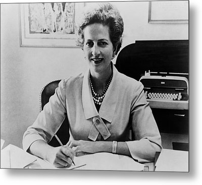 Letitia Baldrige, First Lady Jacqueline Metal Print by Everett