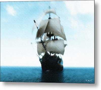 Let's Sail Away Metal Print by Tyler Martin