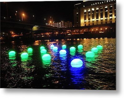 Light Orbs Metal Print by Brynn Ditsche