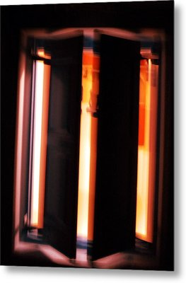 Metal Print featuring the photograph Light Reflections by Colette V Hera  Guggenheim