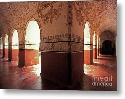 Metal Print featuring the photograph Light Under The Arches Tepoztlan Mexico by John  Mitchell