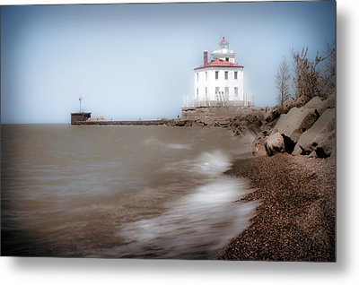 Metal Print featuring the photograph Lighthouse At Fairport Harbor by Michelle Joseph-Long