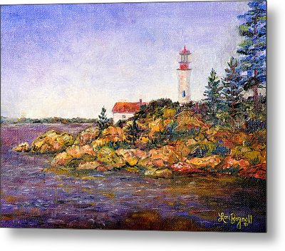 Metal Print featuring the painting Lighthouse by Lou Ann Bagnall