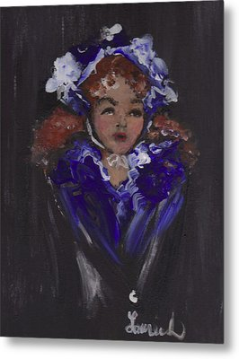 Lil Girl Blue Metal Print by Laurie L