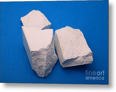 Lime Made From Marble Metal Print by Ted Kinsman