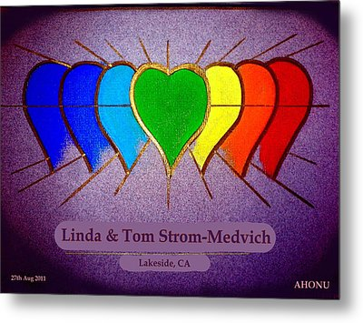 Linda And Tom Metal Print by Ahonu