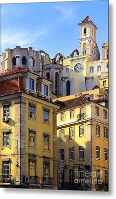 Lisbon Buildings Metal Print by Carlos Caetano