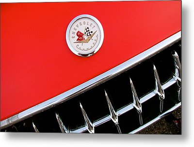 Little Red Corvette Metal Print