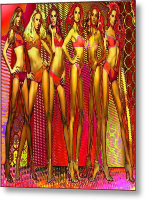 Long Legged Blonds And Redheads Metal Print by Rod Saavedra-Ferrere