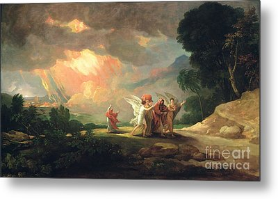 Lot Fleeing From Sodom Metal Print