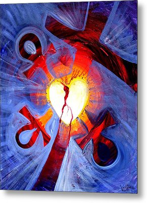 Love - In Three ... For All Metal Print by J Vincent Scarpace