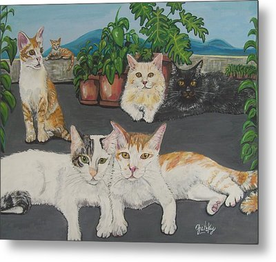 Lovely Cats Metal Print by Paintings by Gretzky