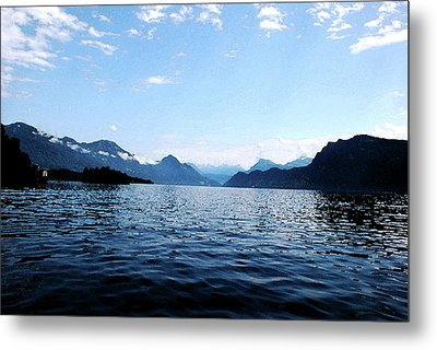 Metal Print featuring the photograph Lucerne Lake by Pravine Chester