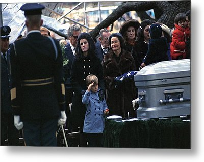 Lyndon Johnson Funeral. Lyn Nugent Metal Print by Everett