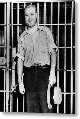 Machine Gun Kelly, Handcuffed To Cell Metal Print by Everett