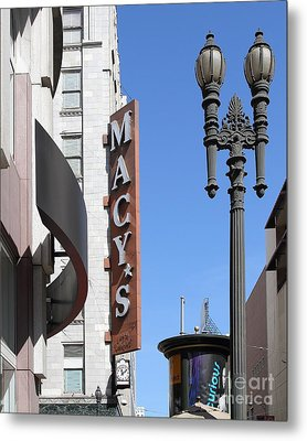 Macys Department Store In San Francisco Metal Print by Wingsdomain Art and Photography