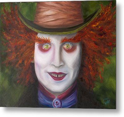 Mad As A Hatter Metal Print by Thea Wolff