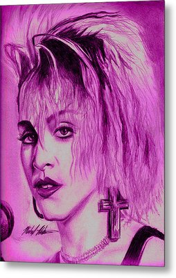 Madonna Metal Print by Michael Mestas