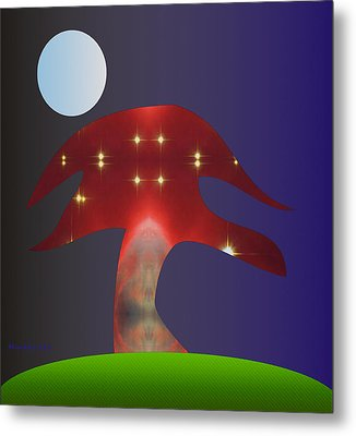Magic Tree Metal Print by Asok Mukhopadhyay