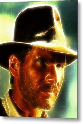 Magical Indiana Jones Metal Print by Paul Van Scott