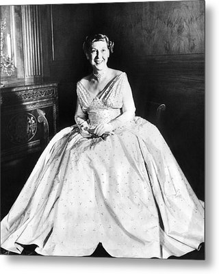 Maine Eisenhower Models The Gown Metal Print by Everett