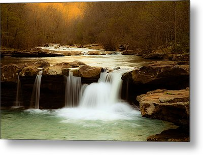 Majestic Waterfalls Metal Print by Iris Greenwell