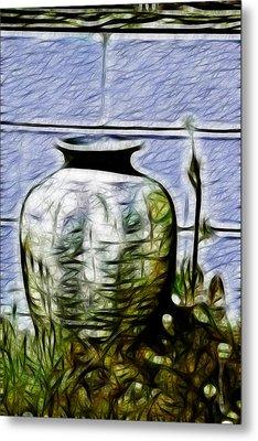 Mamas Old Vase Metal Print