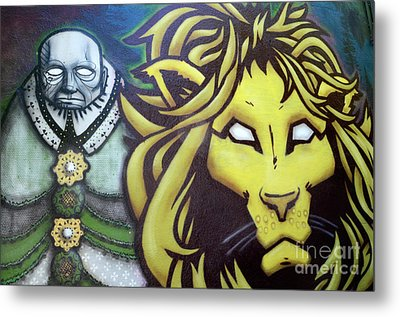 Man And Beast Metal Print by Bob Christopher
