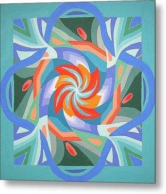 Metal Print featuring the painting Mandala by Rachel Hames