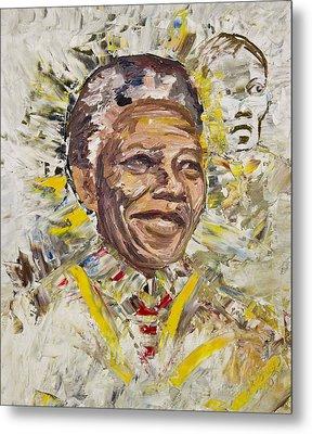 Mandela Metal Print by Bob Usoroh