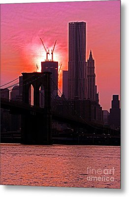 Manhattan Sunset Metal Print