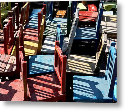Metal Print featuring the photograph Many Seats For Learning by EricaMaxine  Price