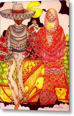 Mariachi Wedding Metal Print by Dede Shamel Davalos