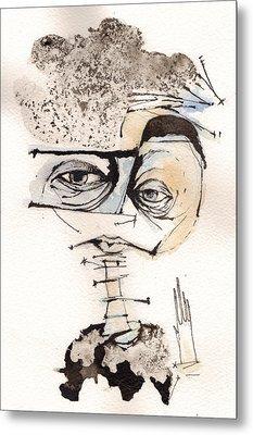 Mark M. Mellon With Glasses Metal Print by Mark M  Mellon