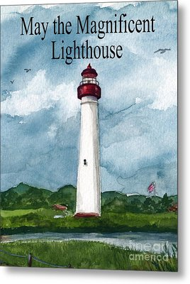 May The Magnificent Lighthouse  Metal Print by Nancy Patterson