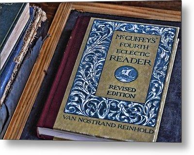 Mcguffey Reader Metal Print by Nancie Rowan