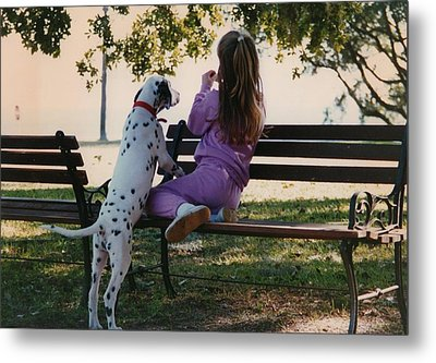 Metal Print featuring the photograph Me And A Dog Named Spot by Tanya Tanski