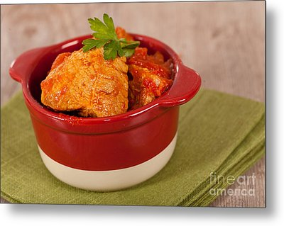 Meat And Tomato  Metal Print by Sabino Parente