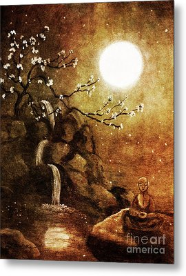 Meditation Beyond Time Metal Print by Laura Iverson