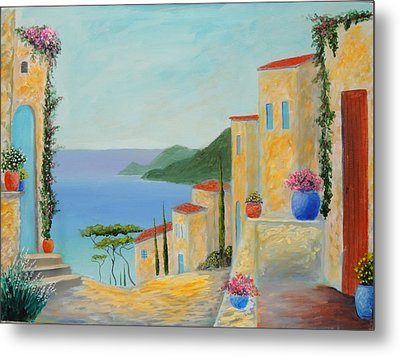 Mediterranean Haven Metal Print by Larry Cirigliano