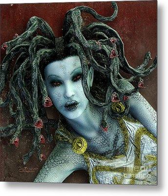 Medusa Metal Print by Jutta Maria Pusl