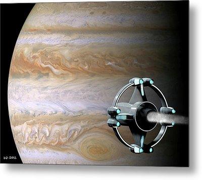 Meeting Jupiter Metal Print by James C Jones II