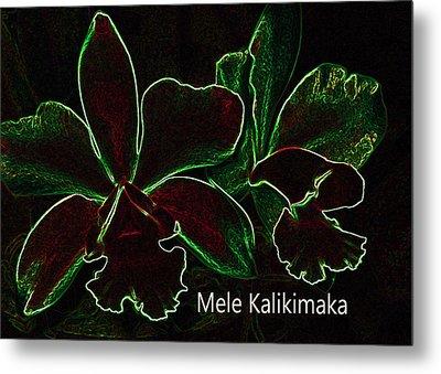 Mele Kalikimaka - Merry Christmas From Hawaii Metal Print by Kerri Ligatich